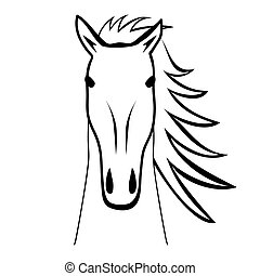 silhouette of a horse. vector