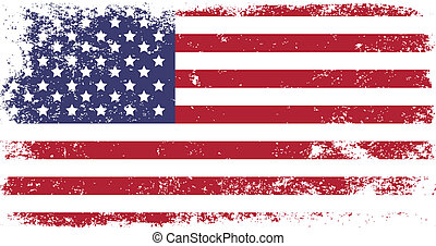 flag of USA - grunge flag of USA
