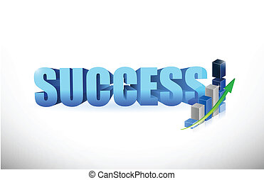 success Business graph and chart illustration design