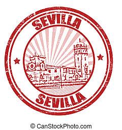 Sevilla stamp - Sevilla grunge rubber stamp, vector...