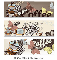 Coffee brochure set for design - Coffee vector brochures set...