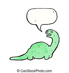 cartoon friendly dinosaur