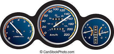car dashboard gauge illustration