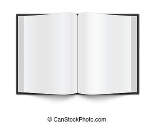 Book template - Blank book pages on white with a shadow EPS...