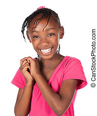Cute african girl - Adorable small african child with braids...