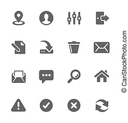 Interface icons - Set of most used interface icons