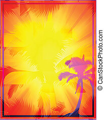 Abstract Tropical Background file - Abstract colorful...
