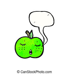 cute cartoon apple raster version
