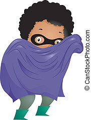 Little Kid Boy Superhero - Illustration of Little Kid Boy...