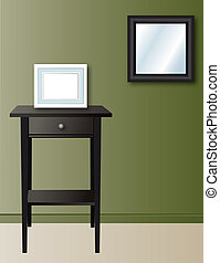 home wall decor - picture frame on table