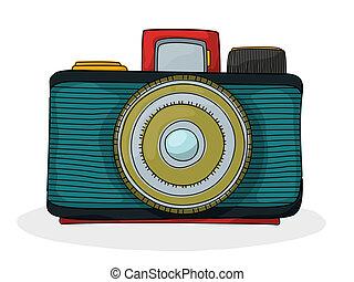 Retro cartoon camera
