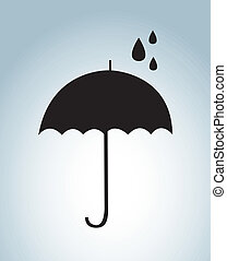 umbrella design  over blue background. vector illustration