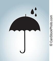 umbrella design  over blue background. vector illustration