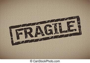 fragile label - fragile seal over lineal background vector...