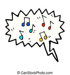 musical notes cartoon