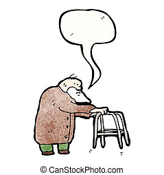 elderly man cartoon