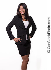 Asian business woman - Attractive black hair woman from...