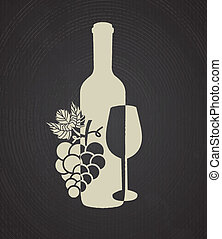 wine cover over black background vector illustration