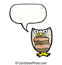 hooting little owl cartoon