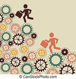 jobs design over beige background vector illustration