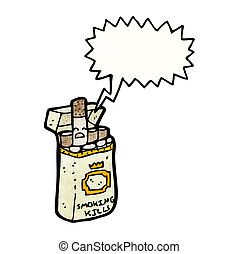 cigarette packet cartoon