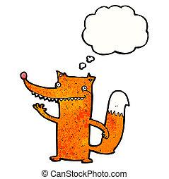 funny cartoon fox