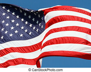 Old Glory Waves in the Wind - The flag of the United States...