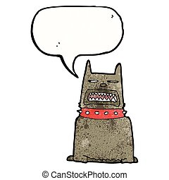 growling dog cartoon