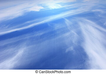 Holy spirit and blue sky and light white summer clouds