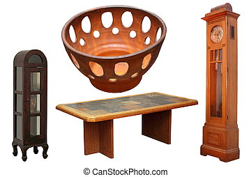vintage items - collection of vintage furniture items...