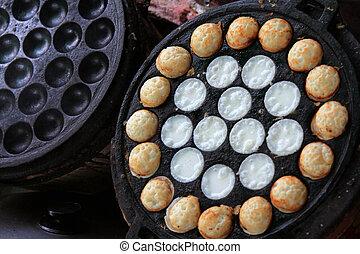Thai snack, Coconut Milk Pudding - Sweet Thai Dessert :...