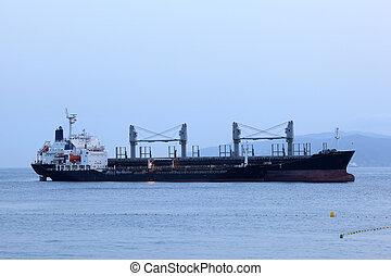 Tanker ship in harbor