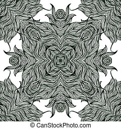 Luxury pattern with thin elegant lines. - Luxury vector...
