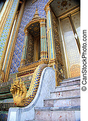 Marble stairs at the Grand Palace