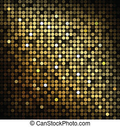 vector abstract background - Gold disco lights - vector...