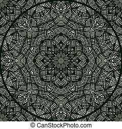Lace pattern with thin elegant lines. - Luxury vector...
