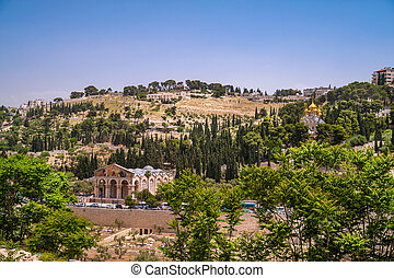 Mount of Olives - View on Mount of Olives in Jerusalem,...