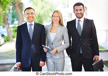 Professional team - Portrait of a team of professional...