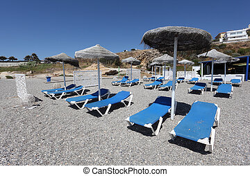 Beach bar in Costa del Sol, Andalusia, Spain