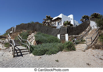 House on the beach. Costa del Sol, Andalusia Spain
