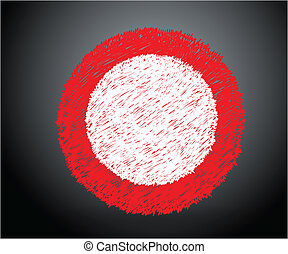 Grunge Background Vector - Creative Abstract Drawing Art of...