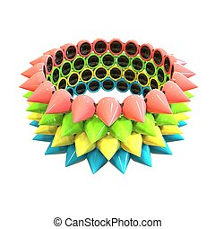 Bangle with colored spikes