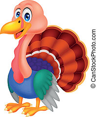 Cute turkey cartoon