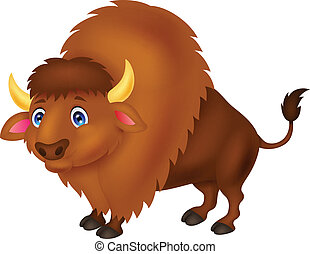 Bison cartoon  - Vector illustration of Bison cartoon