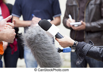 entrevista, medios