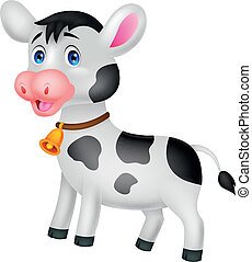 Cute cow cartoon - Vector illustration of Cute cow cartoon