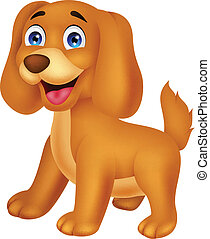 Cute puppy cartoon - Vector illustration of Cute puppy...