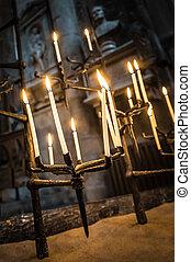 gótico, velas