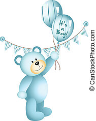 It's a Boy Teddy Bear - Scalable vectorial image...