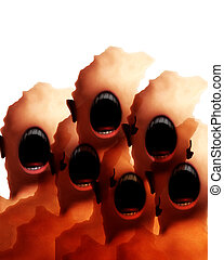 Many Creepy Mouth Monsters 2